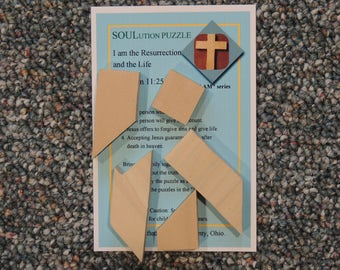 wooden, cross, puzzle, resurrection