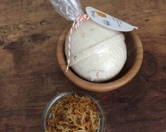 orange peel bath bomb