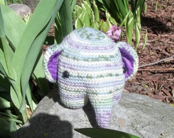Crochet Amigurumi Elephant Plush Stuffed Animal