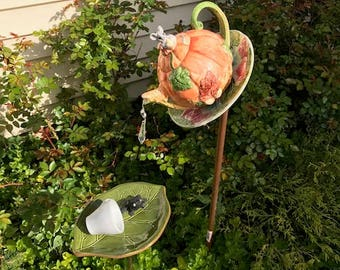 woodland creatures eating in the forest bird feeder