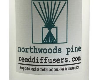 8 oz Northwoods Pine Fragrance Reed Diffuser Oil Refill  - Made in the USA