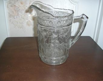 Beautiful pressed glass pitcher