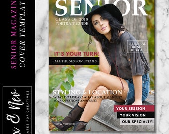Senior Magazine Cover Template