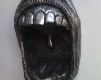 Hand crafted gaping gob ashtray or change/keyholder