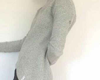 Grey Sweater Woman