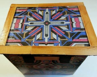 Decorative Upcycled Cardboard Box