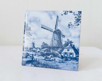 Vintage Windmill Trivet - Holland