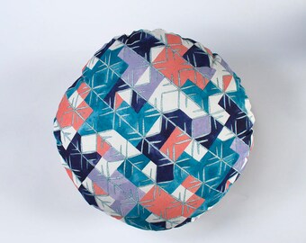 Kaleidescope Geometric Colourful Round Cushion 40cm