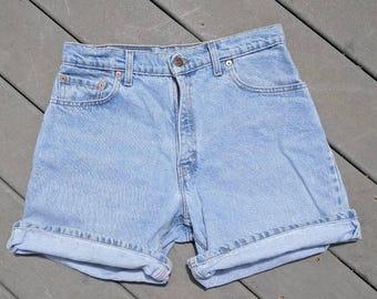 "Vintage Levi Acid Wash High Waisted Shorts, 30"" Waist"