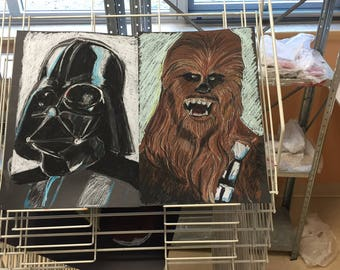 Limited Numbered and signed Vader and Chewie prints