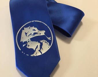 Dragon Necktie, Blue Tie