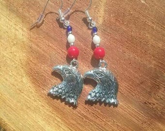 American Bald Eagle Earrings