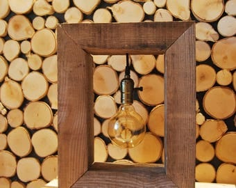 Wooden Frame Light bulb Light