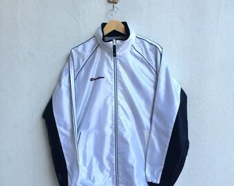 Vintage 90's Champion Windbreaker Jacket Small Logo Embroidery