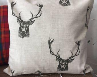 Stag print Cushion