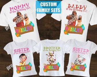 Moana Family Birthday Shirts, Moana Birthday Shirt, Moana Family Set