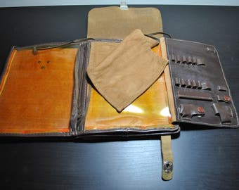 Vintage Soviet Army Officer Map Bag from USSR
