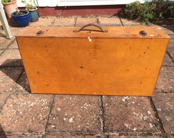 VINTAGE Wooden trunk/box. Tool chest