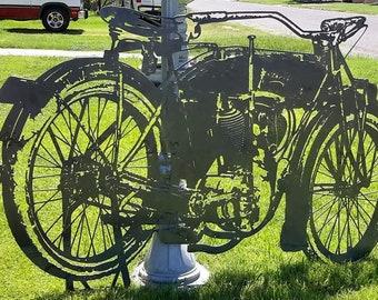Motorcycle Metal Art