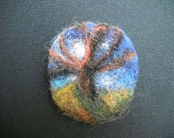 Needle Felted Brooch Pin