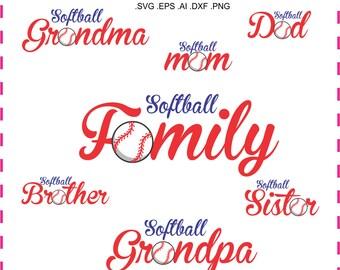Softball Grandma Svg Cutting File Ai Dxf And Printable Png