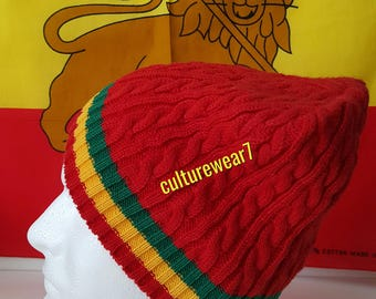 Rasta Beanie Red/ Red, Gold, Green