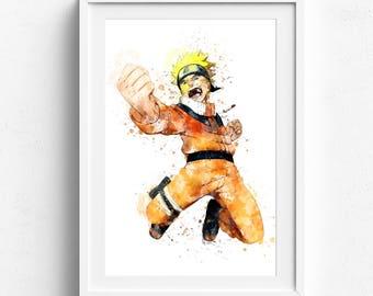 Naruto art, naruto poster, naruto uzumaki art, naruto watercolor, anime art, manga art, manga poster, manga watercolor, naruto uzumaki
