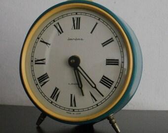 Vintage Jantar Yantar soviet alarm clock