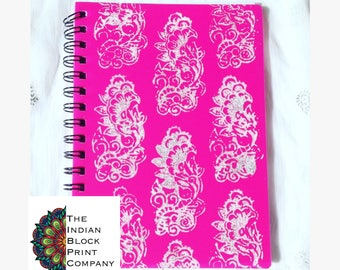 A5 Floral Print Wiro Notebook Ruled