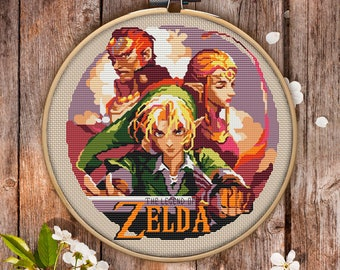 The Legend of Zelda Cross Stitch Pattern for Instant Download - 064| Easy Cross Stitch| Counted Cross Stitch| Embroidery Design