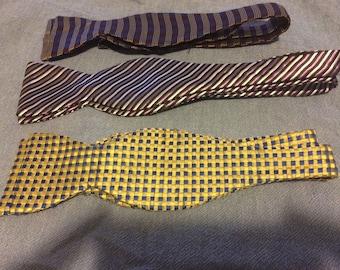 Silk Ties for crafting Bundle of 3