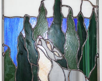Animals stained glass
