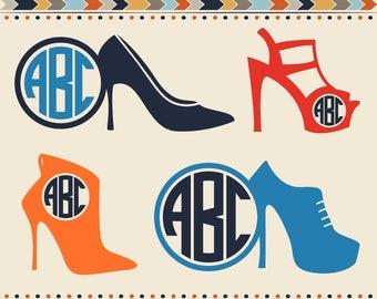 High Heels SVG Cut File Stilettos Monogram Svg High heel Shoes Svg Woman Lady Girl Shoes Cricut Heels Dxf Silhouette Car Decal Design Image