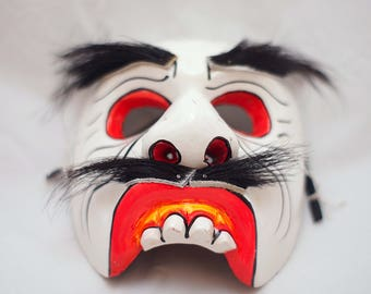 Shaman Voodoo wooden mask Creepy mask Scary mask Authentic mask Mascot mask