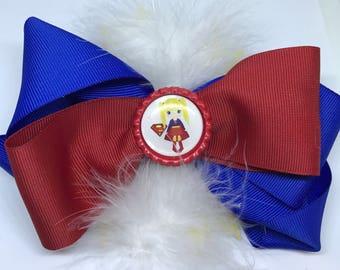 Super Hero Bow- Super Girl