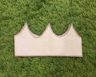 Kid's crown - fabric crown - princess crown - baby pink