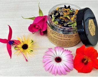 Hair & Scalp Remedy Organic Loose Green Tea Blend.. Borage, Yerba Mate, Butterfly Pea Flower, Goji Berry, Ginger, Lavender, Rose Hip...