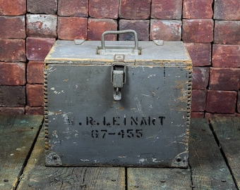 Fabulous rustic gray military munition boxes - convo for shipping quote - note shipping is not free