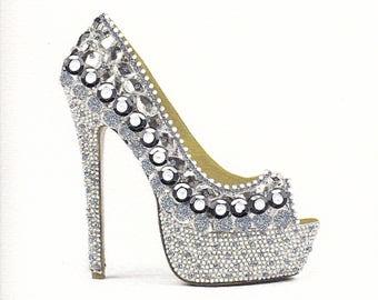 Sparkling Silver Shoe