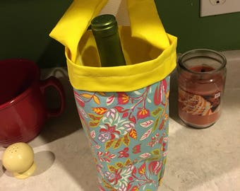 CUSTOM UNPADDED wine bottle carrier