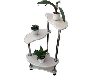 "Free ship! Plant stand ""Amster"". Flower stand - Indoor plant stands - Plant holder - Plant table - Stand for flowers - Flower shelf - Shelf"
