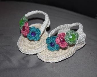 Baby girl sandals - Crochet
