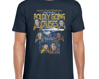 Boldly Going Cruises - T-Shirt SciFi Tee | Star Trek | Captain Kirk | Spock | Enterprise