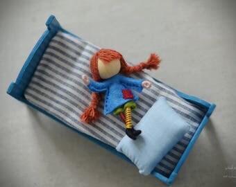 Pippi Longstocking miniature doll