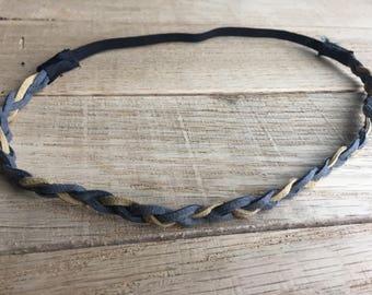 Boho Inspired braided Leather Headband