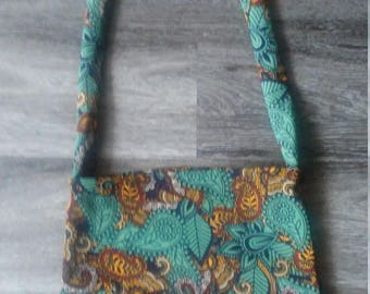 Upcycled LuLaRoe Paisley Cassie into Over the Shoulder Croosbody Purse