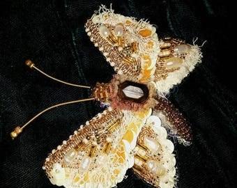 Brooch 'Spring Butterfly' handmade
