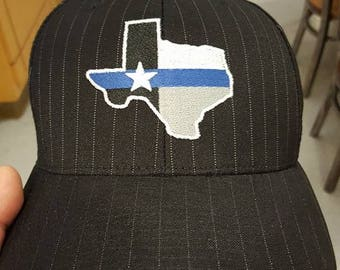 Back the Blue Pinstripe flexfit hat