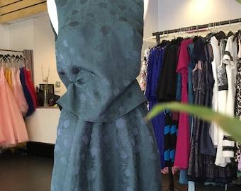 Isobel Top and Skirt. Emerald green jacquard. Size 34 (DE) 8 (UK)