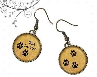 Earrings animals, dog lover, legs footprints, R20